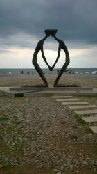 Statues Batumi beach