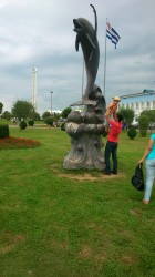 Dolphin statue Batumi