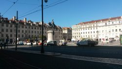 Main square Lisbon by River Tagus (Rio Tejo)