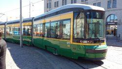 A tram in Helsinki