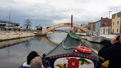 View of Aveiro canal from Gondola boat