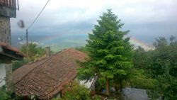 Rainbow over the hills of Lousa