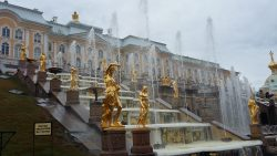 Fountains at Peterhof Palace gardens