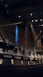 Salvaged 17th century warship inside Vasa Museum