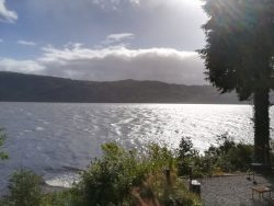 View from hostel over Loch Ness