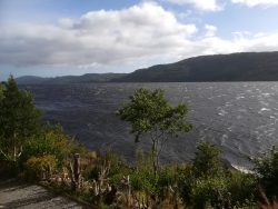 View from Invermoriston over Loch Ness