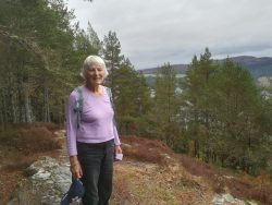 Elizabeth surveys the views over Loch Ness