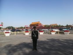 Guard on duty at Tiananmen Square