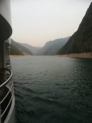 View from the boat on the Yangtze River