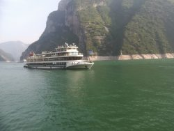 Passing boats on the Yangtze River