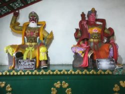 Buddhist figures in the temple