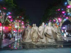 Street theatre in Xian