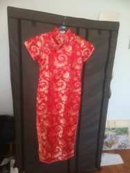 A silk dress bought in a Pagoda Garden